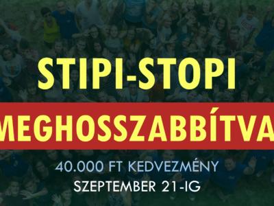 Stipi-Stopi Akció – MEGHOSSZABBÍTVA!